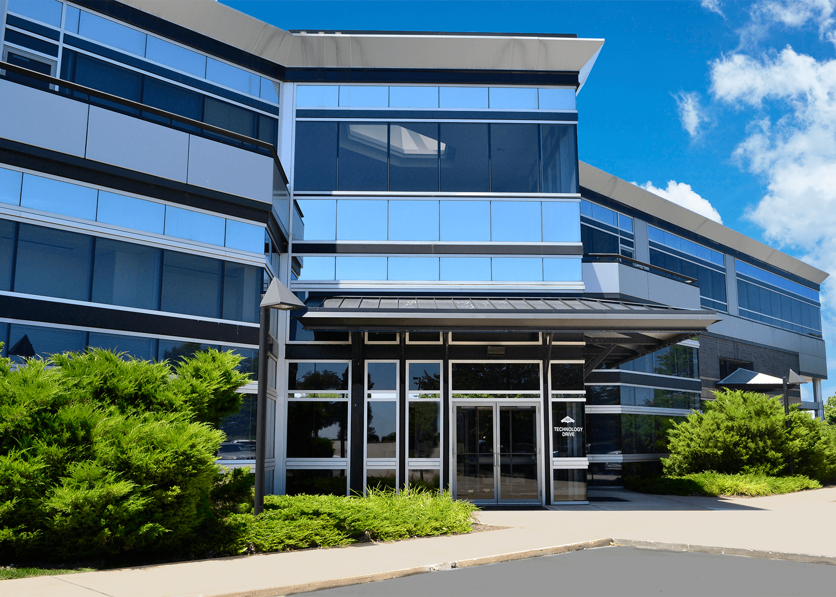 exterior of Stealth Technology Center entrance